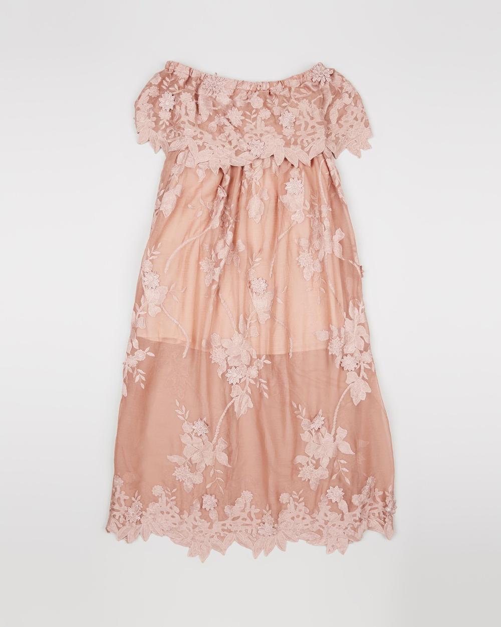 Marlo Rose Amaranth Lace Maxi Dress – Teens