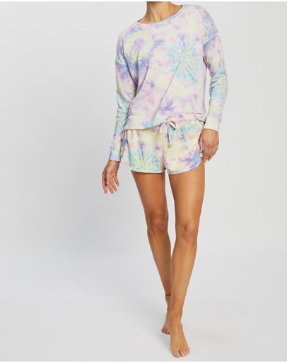 Onzie High Low Sweater Neon Tie Dye