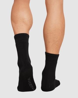Boody Organic Bamboo Eco Wear 4 Pack Work Boot Sock - Crew Socks (Mixed Colours)