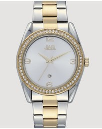 Jag - Brooke White Sunray Dial Two Tone Silver & Yellow Gold Bracelet 38 mm