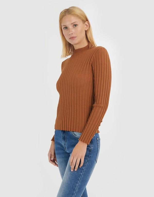 Women Brooke Mock Neck Knit