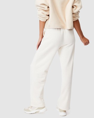 Cotton On Body Active Lifestyle Wide Leg Trackpants - Track Pants (Buttermilk)
