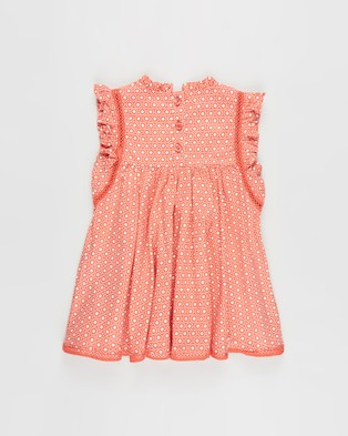 Cotton On Baby Tess Flutter Sleeve Dress   Babies - Printed Dresses (Red Orange & Vanilla Polly Floral)