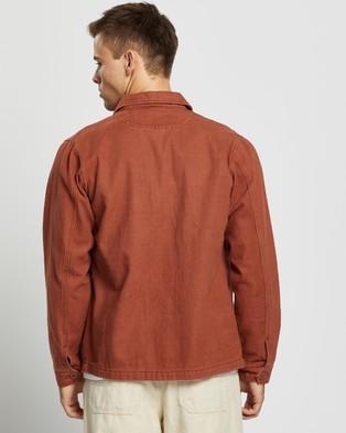 AERE Organic Twill Chore Jacket - Coats & Jackets (Rust)