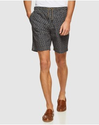 Oxford - Freddy Bamboo Printed Shorts