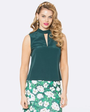 Alannah Hill – Romance Is Glamour Top Green