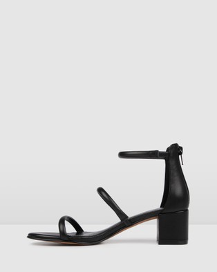 Jo Mercer Roka Low Heel Sandals - Sandals (Black)