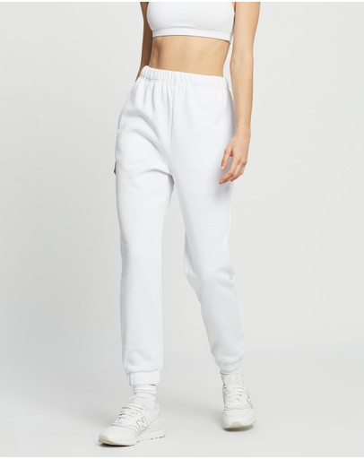Factorie Super High Rise Trackpants White