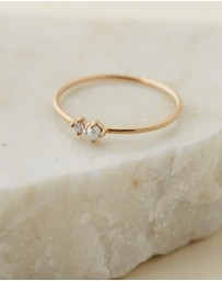 By Charlotte - 14k Gold Light of the Moon Ring