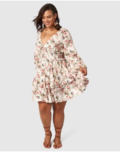 The Poetic Gypsy Sundancer Midi Dress Desert Floral