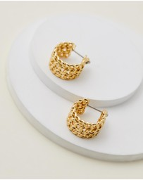 Luv Aj - Mini Margherita Chain Hoops