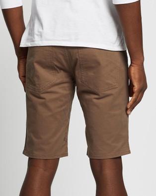 Volcom Solver Lite 5 Pocket Shorts - Chino Shorts (Brown)