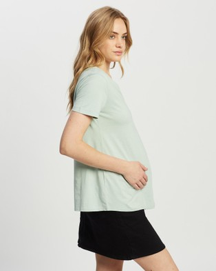 Isabella Oliver The Maternity V Neck Tee - T-Shirts & Singlets (Mint Green)