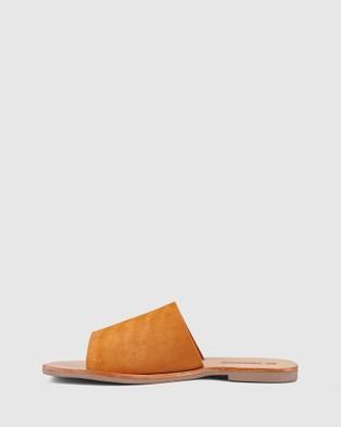 Sol Sana Mila Slides - Sandals (Toffee Suede)