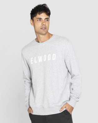 Elwood Mens Huff N Puff Crew - Sweats & Hoodies (Grey Marle)