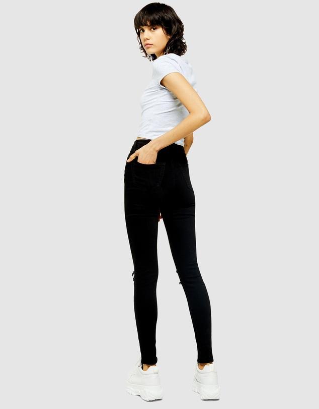 Women Petite Ripped Jamie Jeans