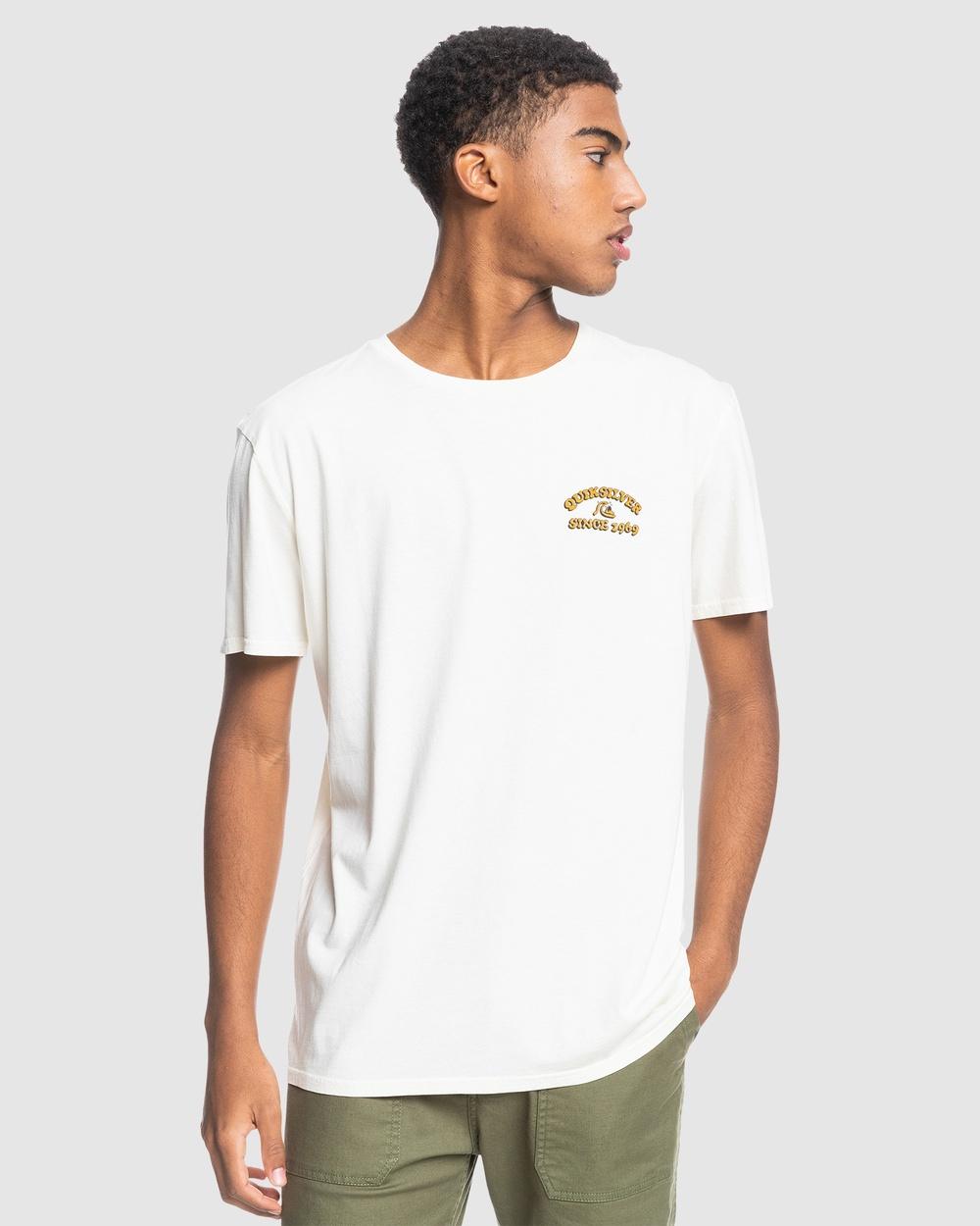 Quiksilver - Mens On The Hunt Organic T Shirt - T-Shirts & Singlets (Snow White) Mens On The Hunt Organic T-Shirt