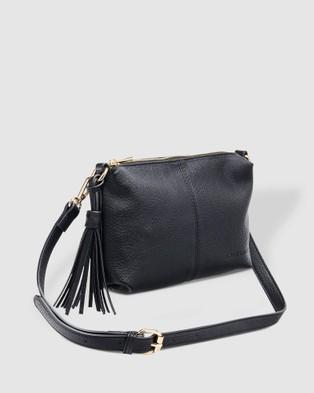 Louenhide Baby Daisy Crossbody Bag - Clutches (Black)
