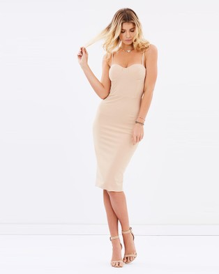 Miss Holly – Adianna Dress Nude – Bodycon Dresses Nude
