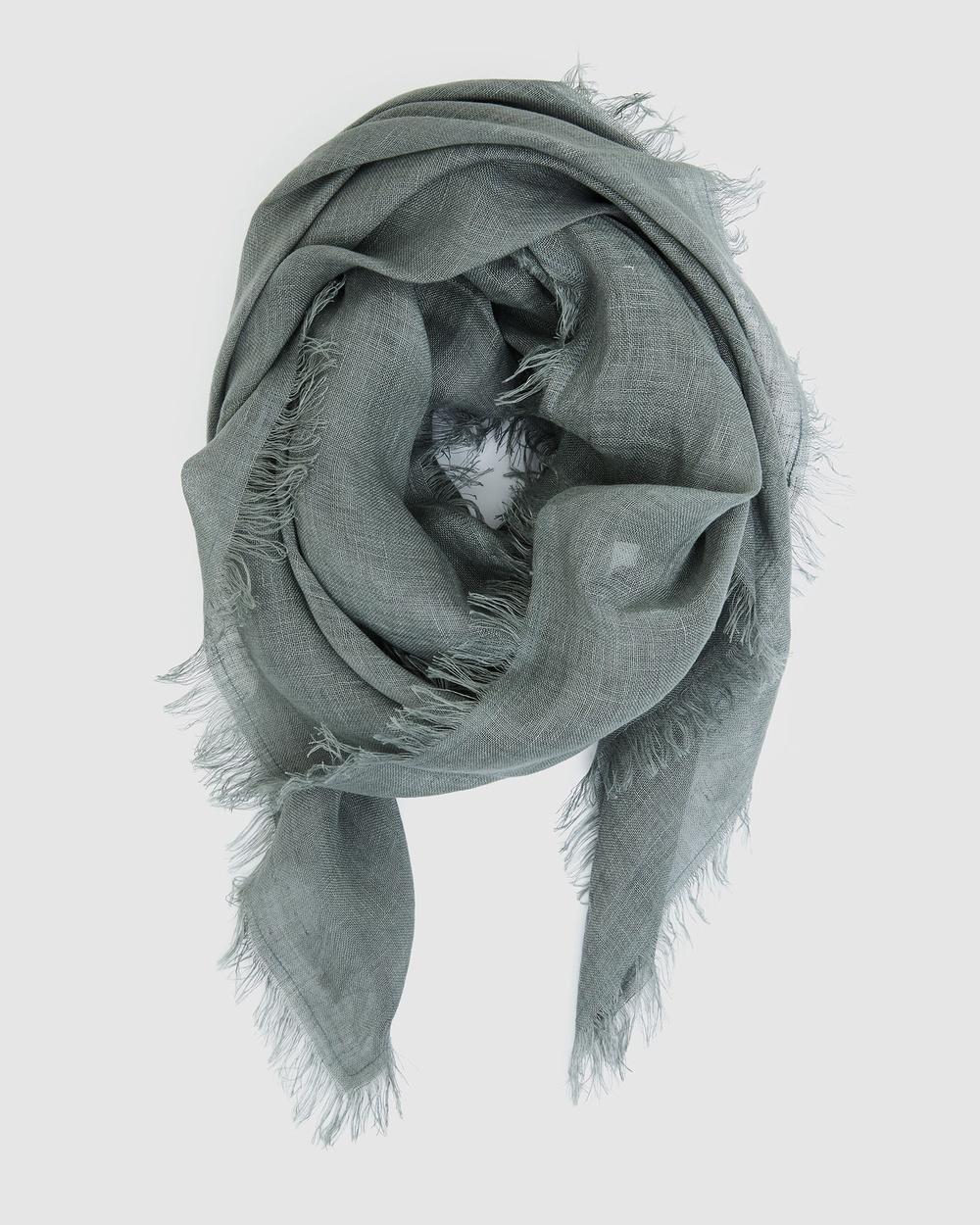 Cloth & Co. Hand Loomed Linen Scarf Scarves Gloves Rockridge
