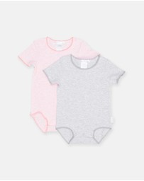 2-Pack Frenchies Short Sleeve Bodysuit - Babies