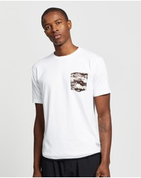 White Mountaineering - Layered Camo Printed Pocket T-Shirt