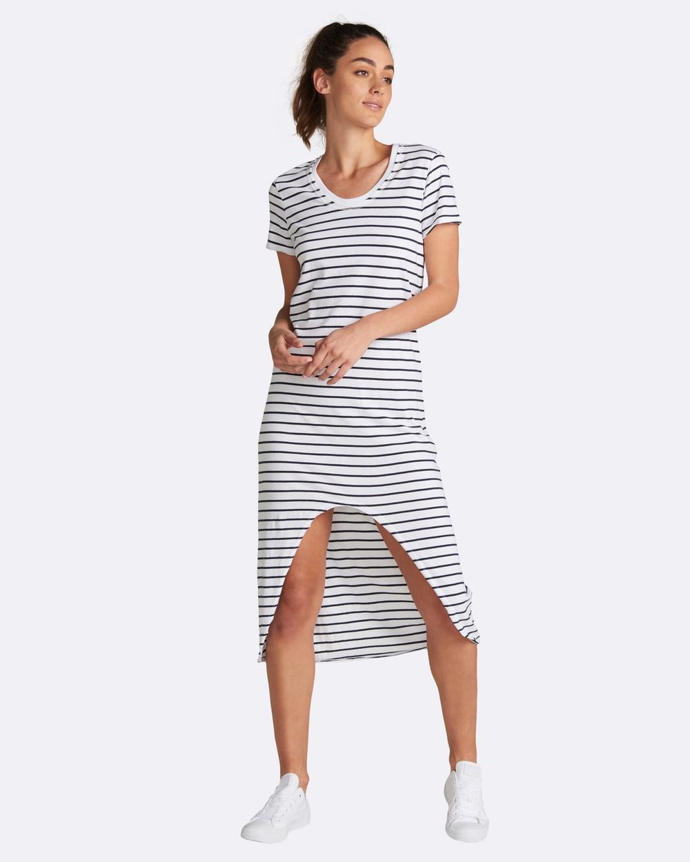 jac + mooki Maisie Stripe Dress Dresses White Maisie Stripe Dress