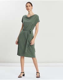 Banana Republic - Sleeveless Cowl Sandwashed Dress