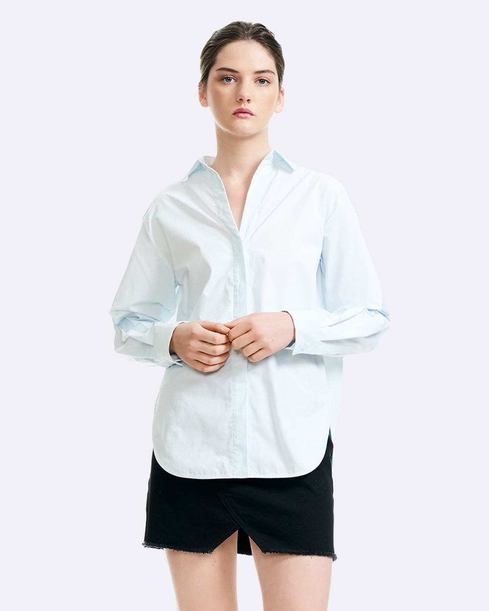 Maje Charme Shirt Tops Blue Charme Shirt