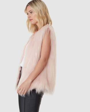 Everly Collective Windsor Faux Fur Vest - Coats & Jackets (Soft Pink)