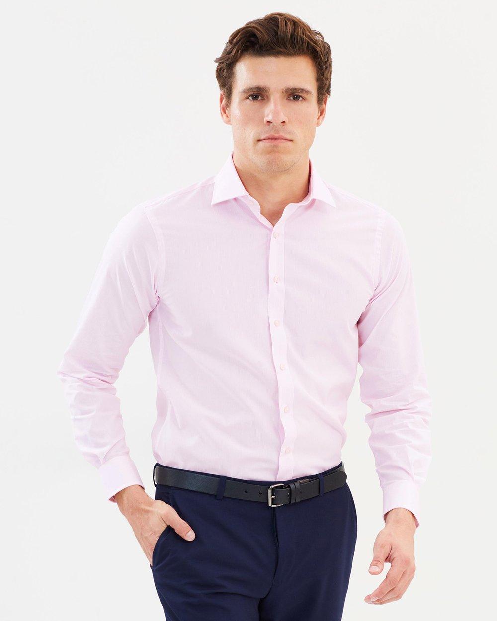 0bea48d76d3 Euro Fit Fine Stripe Shirt by Van Heusen Online