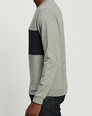 Fred Perry Authentic Colour Block Sweat - Sweats (Steel Marle)