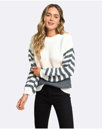 Womens Last Day In NY Chunky Knit Jumper