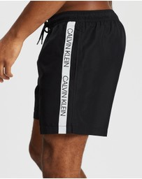Calvin Klein - Logo Tape Medium Drawstring Swim Shorts