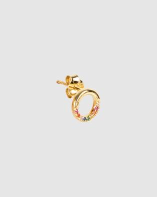 FAIRLEY Infinite Rainbow Studs - Jewellery (Gold)