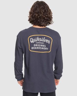 Quiksilver Mens Rear View Long Sleeve T Shirt  - Long Sleeve T-Shirts (PARISIAN NIGHT)