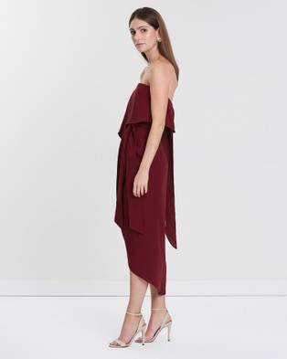 Esther Luxe Fleur Strapless Dress - Bridesmaid Dresses (Burgundy)
