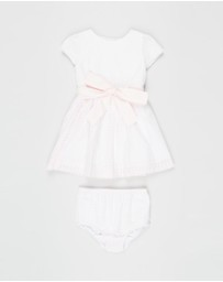 Polo Ralph Lauren - Check Fit-and-Flare Woven Cotton Windowpane Dress - Babies
