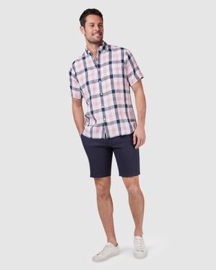 Blazer Theo Short Sleeve Check Shirt - Shirts & Polos (Pink)