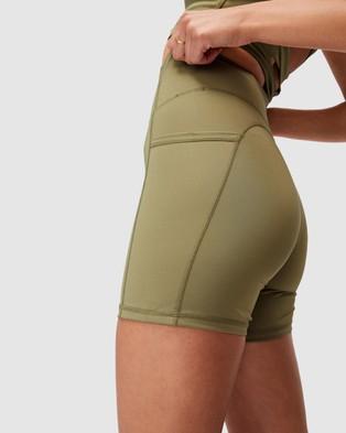 Cotton On Body Active Lifestyle Pocket Bike Shorts - 1/2 Tights (Oregano)