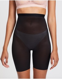 Spanx - Skinny Britches High-Waist Mid-Thigh Shorts