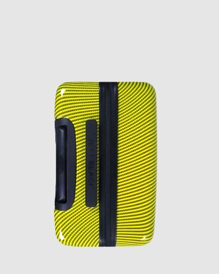 JETT BLACK Carbon Yellow Series Medium Suitcase - Travel and Luggage (Yellow)