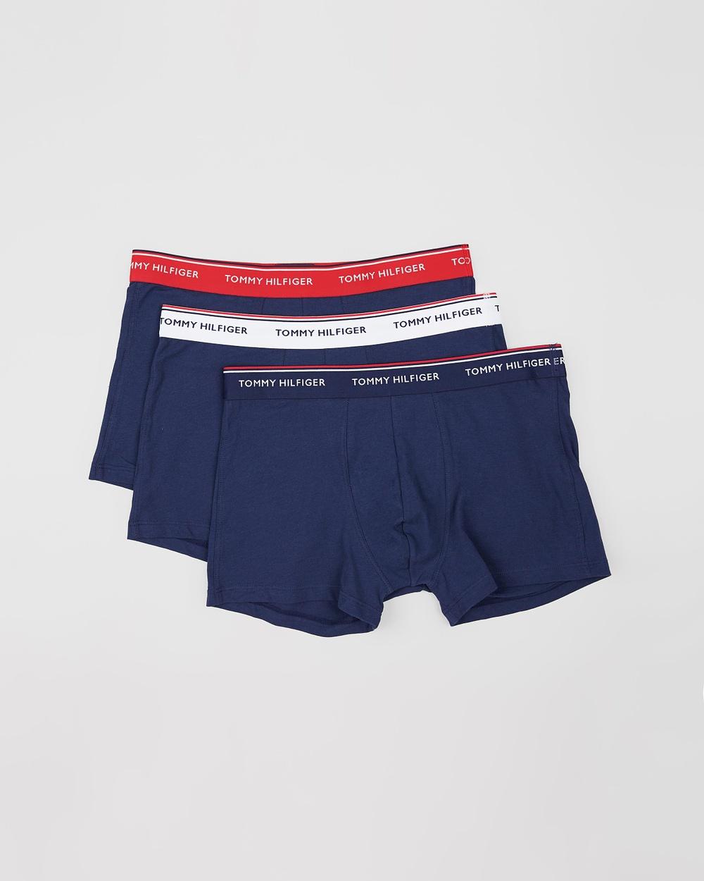 Tommy Hilfiger 3 Pack Premium Essentials Stretch Trunks Underwear & Socks Multi Peacoat 3-Pack