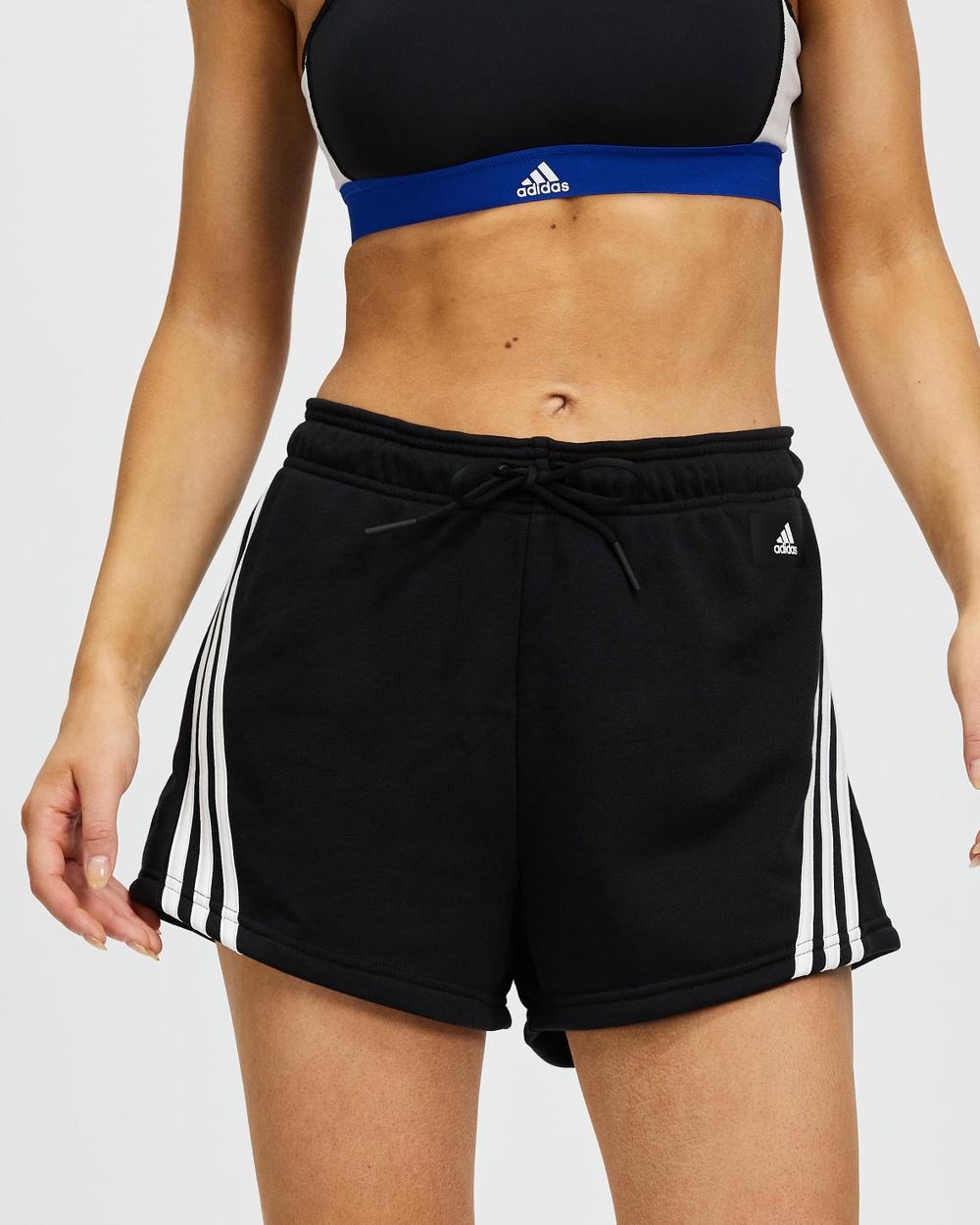 adidas Performance Sportswear Future Icons 3 Stripes Shorts Black 3-Stripes