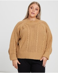Calli Curve - Heidi Cable Knit Jumper
