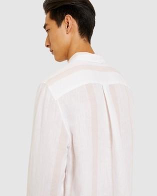 Jag Linen Stripe Shirt - Shirts & Polos (Pink & White )