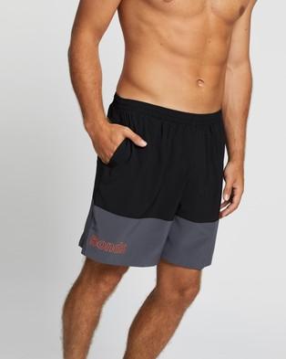 Bonds 7 Inch Running Shorts - Shorts (Black & Graphic Orange)