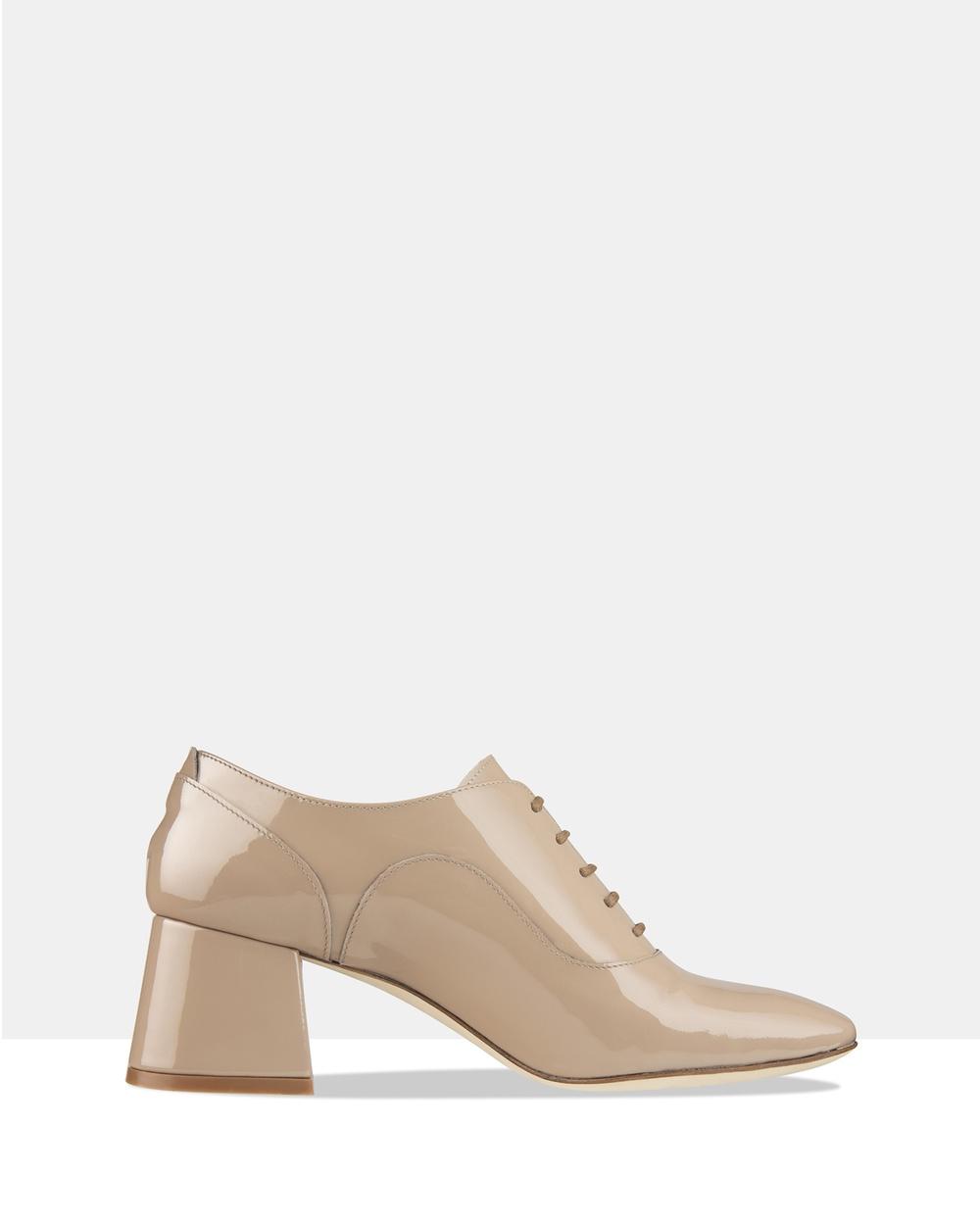 Habbot Harris Lace up Heels Mid-low heels Beige Harris Lace-up Heels