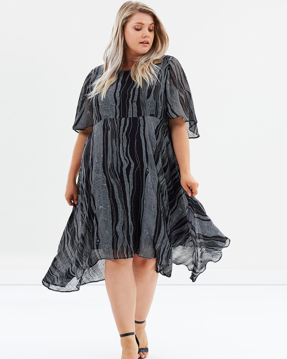 Advocado Plus Wild and Wonder Cape Dress Dresses Contours Wild and Wonder Cape Dress