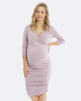 Maive & Bo – Bettina Maternity Dress – Dresses (Purple)